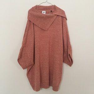 CAbi Split Foldover Cowl Neck Dolman Sweater 3011